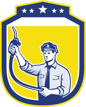 Gas Jockey Gasoline Attendant Shield