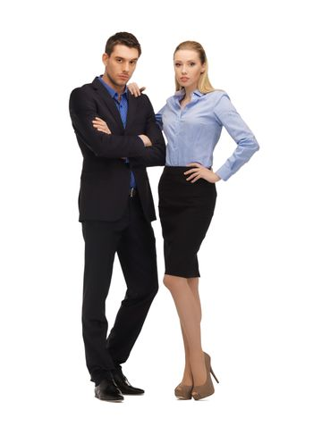 man and woman in formal clothes