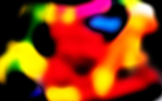 Colors of Moods Series Abstract Depiction Human Mind
