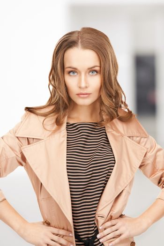 lovely woman in coat