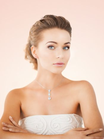 woman with diamond necklace