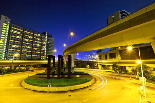 Road junction with freeway