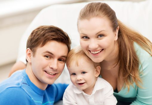 picture of happy family with adorable baby