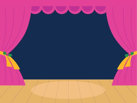 Empty Cinema screen. Vector Illustration