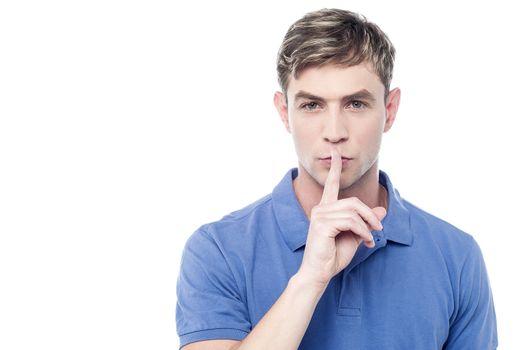 Silence gesture, shhhhh!
