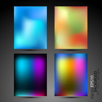 High tech abstract backgrounds collection for business cards and covers with cold colors