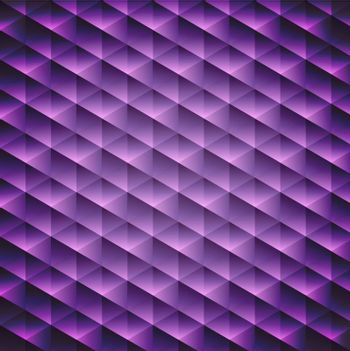 Abstract  geometric violet cubic background, vector illustration