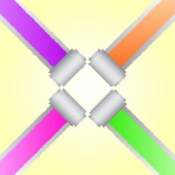 Design of corner tear colour paper, vector illustration