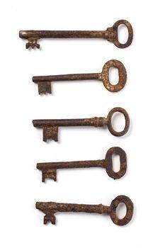 Old, ornate keys