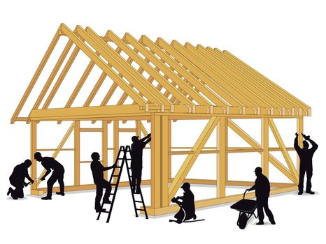Build wooden house