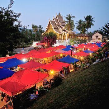 Night Market under the Wat Xieng Thong, Luang Prabang