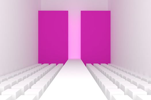 3d Empty fashion runway
