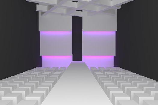 Empty fashion runway