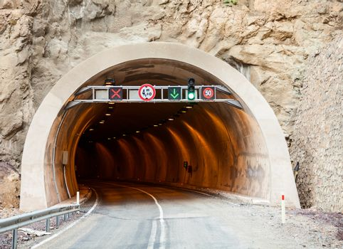 Road tunnel entrance