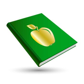 green education book with gold school 3d icon apple