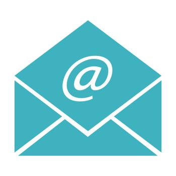 envelope with electronic mail sign