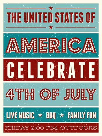US Independence Day Party Flyer
