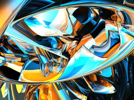 futuristic metal background - 3d illustration