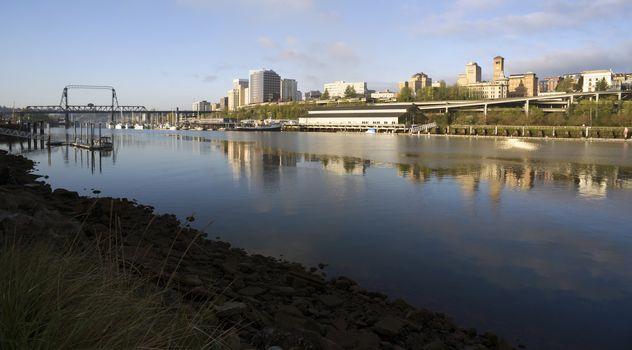 Thea Foss Waterway Waterfront River Buildings North Tacoma Washington
