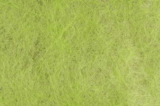 Green handmade fiber paper