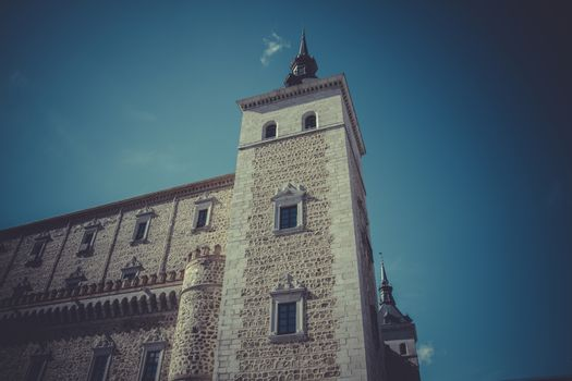 Alcazar of Toledo, military fortress destroyed during the Spanish Civil War