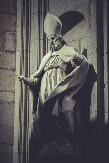 Toledo, imperial city. sculptures on the facade of the Cathedral