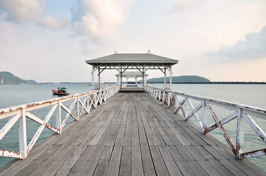 Beautiful old pavilion on Sichang island, chonburi province,Thai