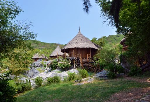Tropical house at Si Chang island, Chonburi, Thailand.