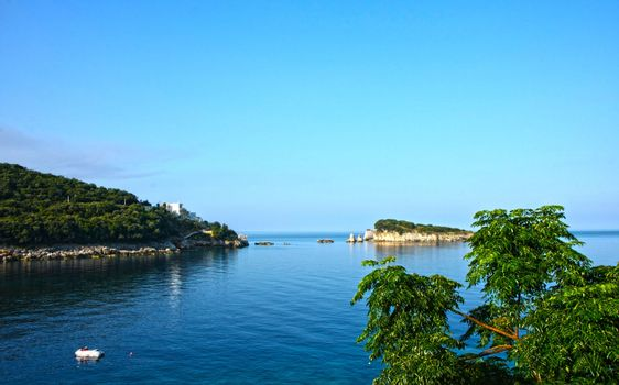 Peacefull bay at  the Adriatic sea,south  Montenegro