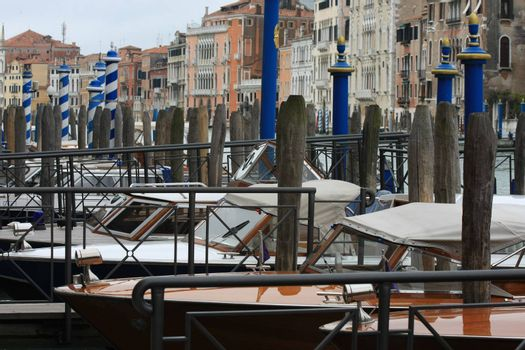 Batch oh boats parked at Grand channel,Venice,Itally