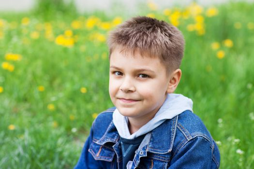 portrait of a boy outdoors
