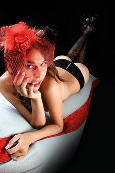 burlesque sexy Lady