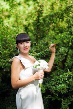 bride near the bush