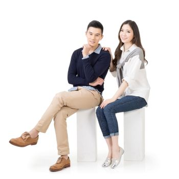 Attractive young Asian couple