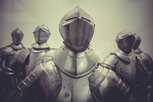 Antique Medieval iron armor, Spanish armada