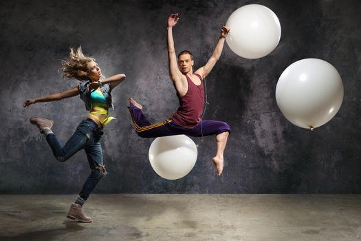 Energetic couple dance