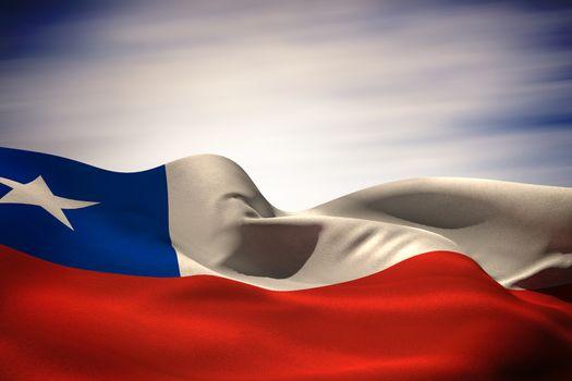 Chile flag waving