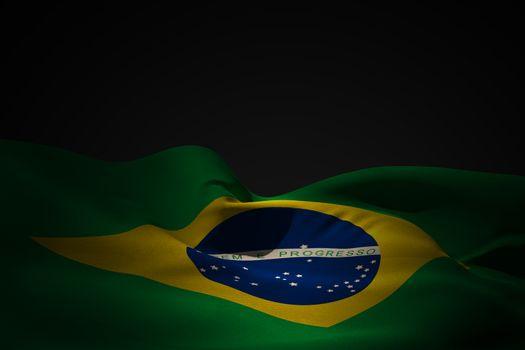 Brazil flag waving