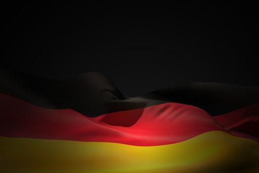Germany flag waving