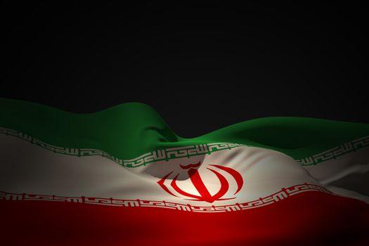 Iran flag waving