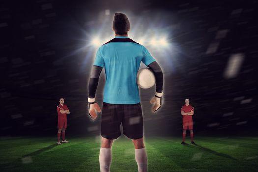 Goalie facing opposition