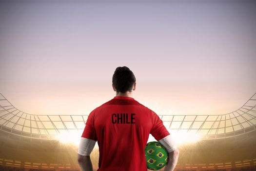 Chile football player holding ball