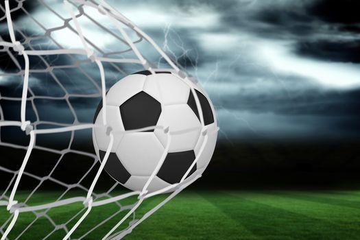 Football at back of net