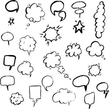 Hand Draw Speech Bubble
