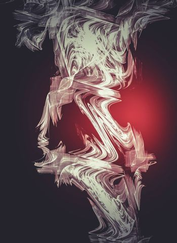 Abstract fire, Creative design background, fractal styles with color design