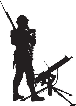 Mashine gunner.Warriors theme