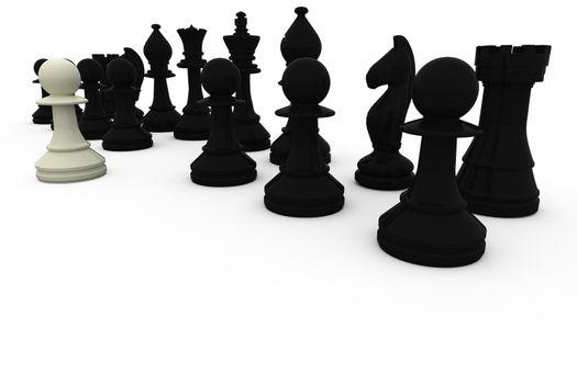 White pawn facing black opposition