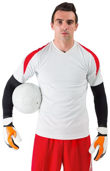Goalkeeper standing in white jersey