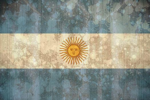 Argentina flag in grunge effect