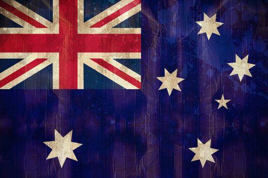 Digitally generated australia flag in grunge effect